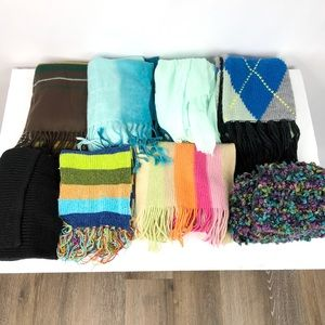 Lot of Eight Used Scarves Merona, Talbots One Size